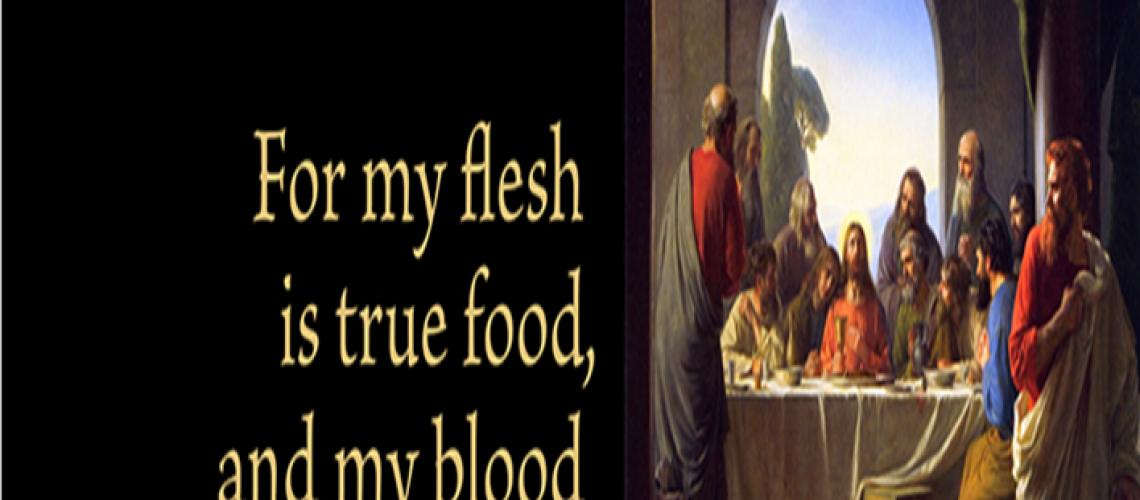 Bulletin - John 6.55 Jesus is true food