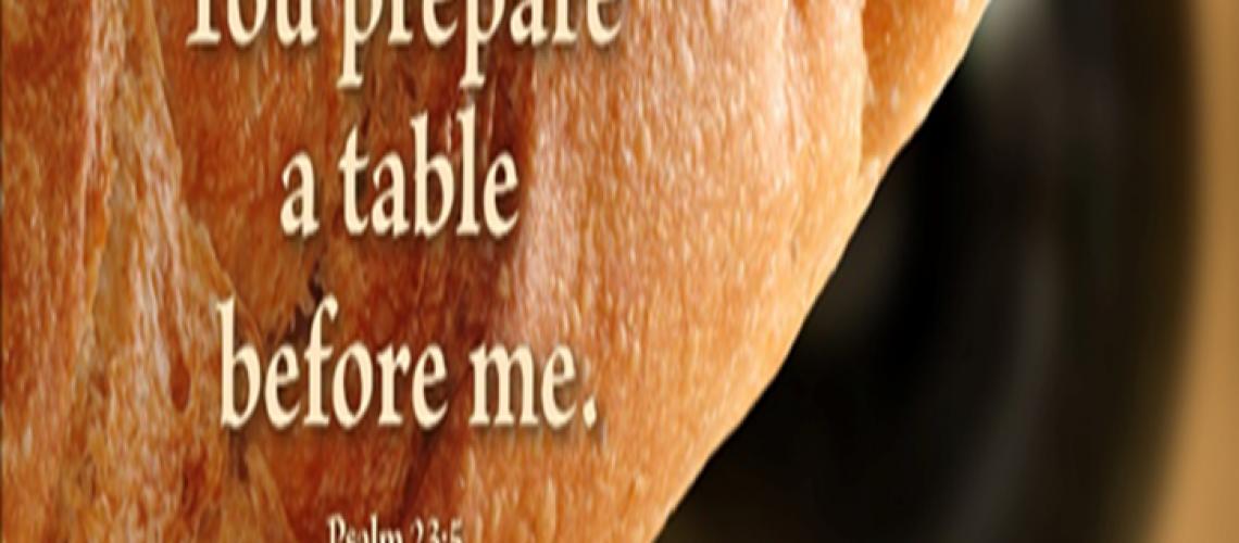Bulletin - Psalm 23.5 bread loaf