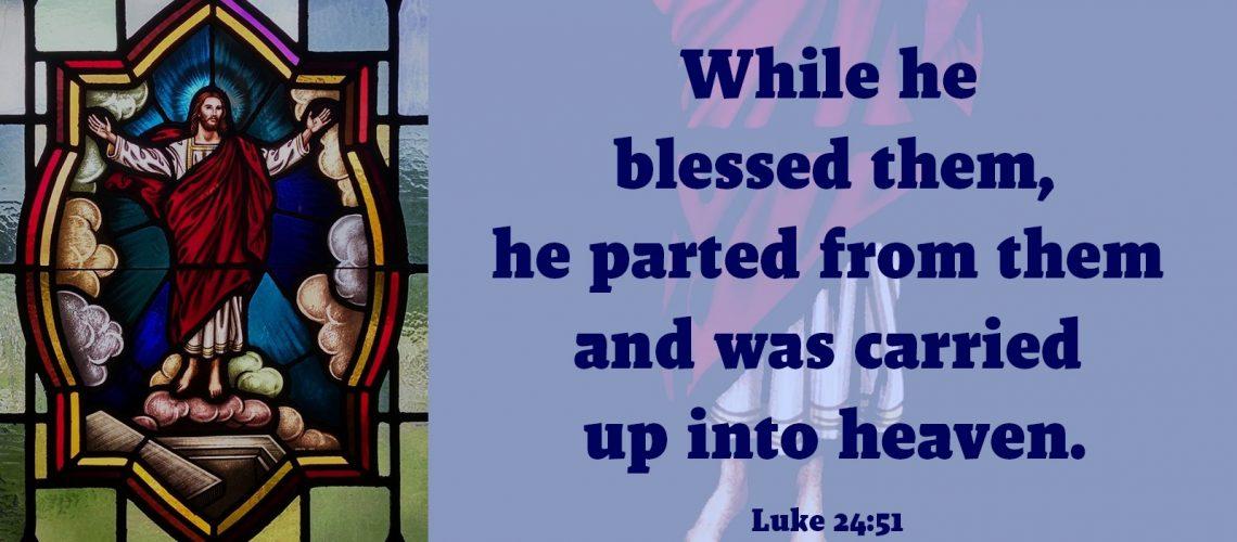 Stained glass pane Luke 24.51
